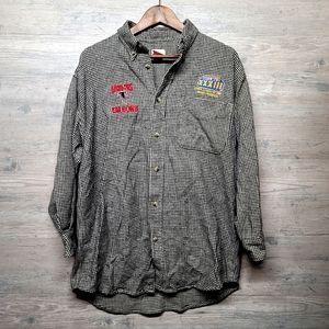 Vintage 1998 Super Bowl Flannel Shirt. Perfect!